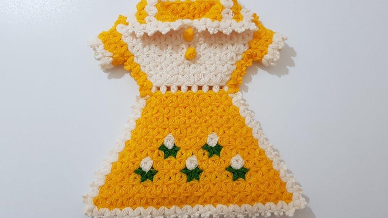 Sarı Elbise Kese Lif Modeli Yapılışı Anlatımlı Videolu