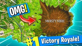 MOISTY MIRE IS GETTING DESTROYED BY FORTNITE ROCKET! (Season 5 New Map Update)