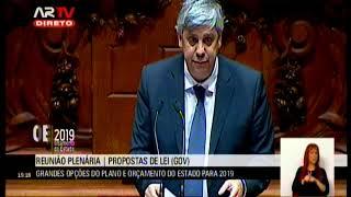 29-10-2018 - Debate na Generalidade | Orçamento do Estado para 2019 | Mário Centeno