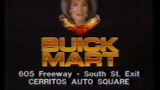 1985 Buick Mart Dealer Cerritos CA TV Commercial