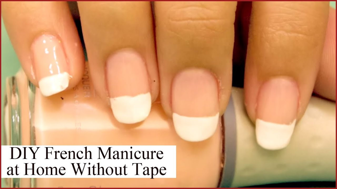 At home french manicure diy french manicure at home without using tape youtube solutioingenieria Gallery