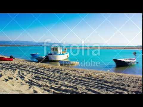 Boats, Sea, Little, Harbor, South Italy, Nature, Wild, Coastline, summer, Time Lapse, 4k