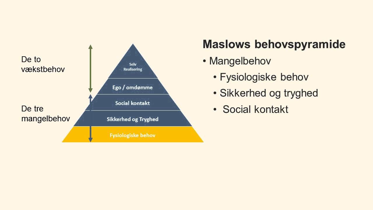 maslows behovspyramide teori