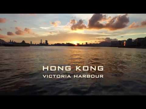 The Sign of Hong Kong - Victoria Harbour drone video in 4K 香港維多利亞港