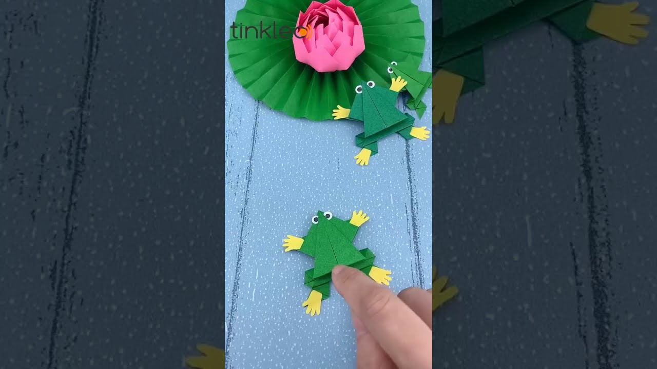 How to Make Somersault Paper Frog