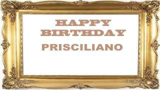 Prisciliano   Birthday Postcards & Postales - Happy Birthday