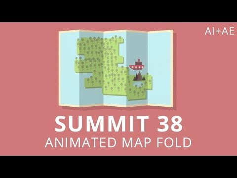 Summit 38 - Animated Map Fold - After Effects