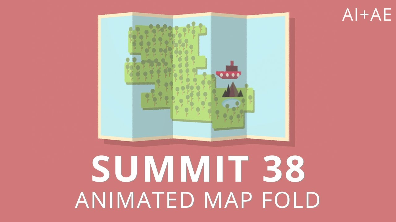 Summit Animated Map Fold After Effects YouTube - Us map fold