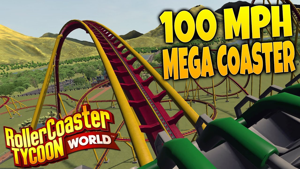 RollerCoaster Tycoon World Gameplay Part 1 - Building a 100 MPH Floorless  Coaster