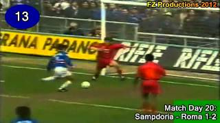 Vincenzo Montella - 141 goals in Serie A (part 1/4): 1-42 (Sampdoria 1996-1998)