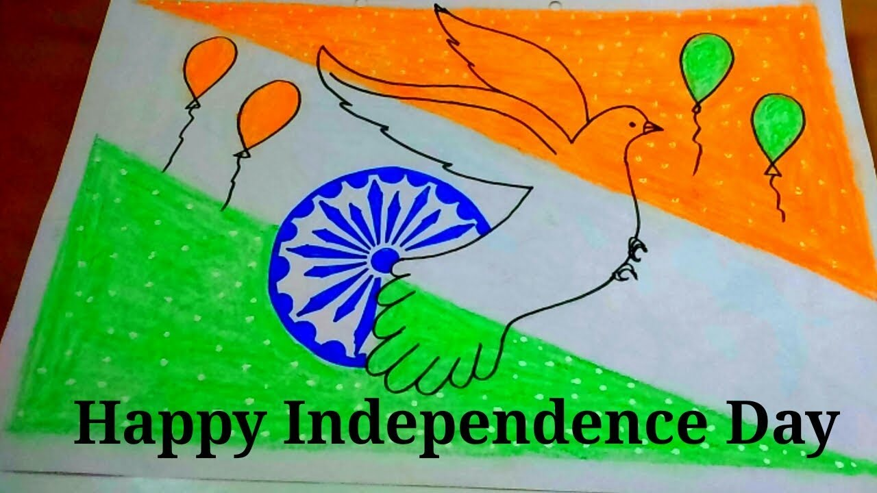 Independence Day Drawing For Kids How To Draw Independence Day