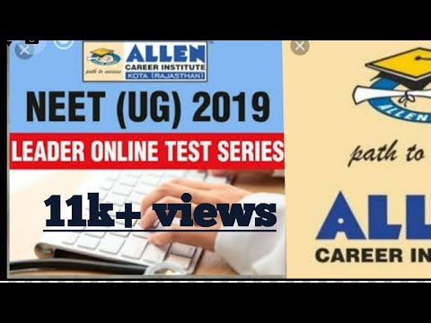 allen offline test series for neet 2019