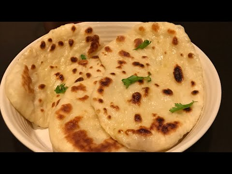 Butter Naan - Homemade using griddle/Tawa
