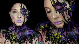 Infected Butterfly Makeup & Bodypaint Tutorial