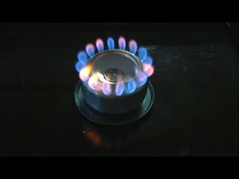 Penny Can Alcohol Stove - Quick How To and Lighting Demonstration.  Easy DIY.