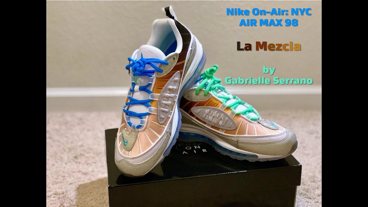 Nike Air Max 98 La Mezcla On Air NYC by Gabrielle Serrano Review and On Feet