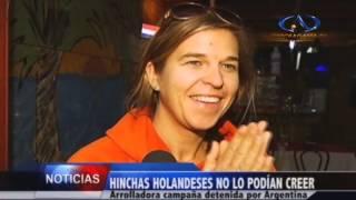 Holandeses y Argentinos disfrutaron del partido de 4 de final / Antofagasta Televisión Noticias