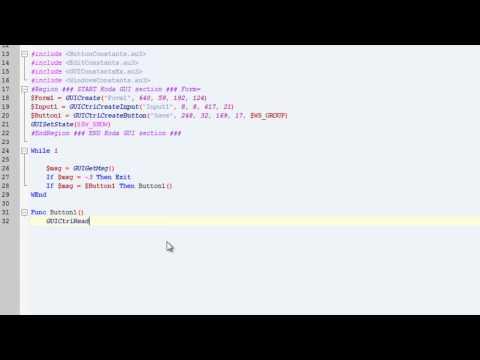 AutoIt Tut Part 4 INIWrite GUI