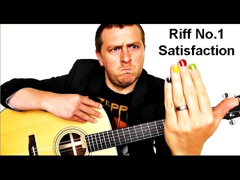Easy Beginner Guitar Lesson - Satisfaction - Riff No.1 - Drue James