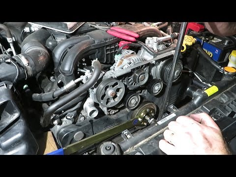 How to Replace the Timing Belt and Water pump Subaru 2.5L Part 1: Tear Down