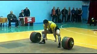 Андрей Иванец. Становая тяга 350 кг без экипировки