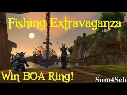 How To Get BOA Dread Pirate Ring In Fishing Extravaganza | Sum4Seb WoW Video