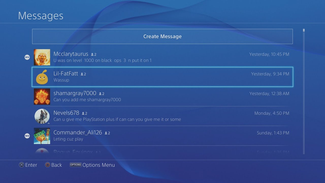 How To Delete Messages On Ps4!