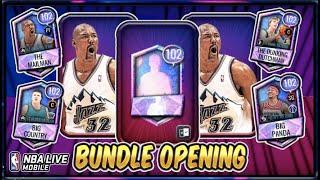 102 OVR Nicknames Bundle Opening! | NBA Live Mobile 20 S4 102 OVR Nicknames Variant Sets Pack