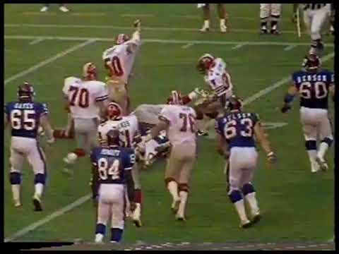 NFL - 1986 -  Preseason Game - New York Giants VS Atlanta Falcons
