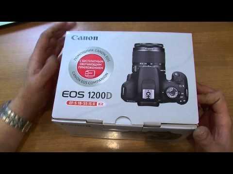 Обзор зеркальной камеры Canon EOS 1200D распаковка и комплектация Veryvery.ru