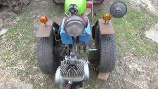 MZ Motoros kis traktor sufni tuning