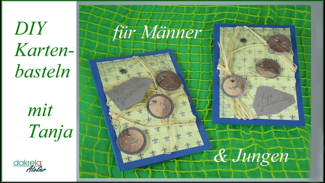 geburtstagskarte f r m nner jungen basteln cardmaking deutsch youtube. Black Bedroom Furniture Sets. Home Design Ideas
