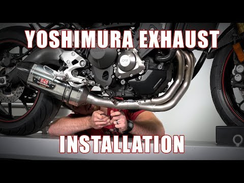How To Install Yoshimura R-77 Full Exhaust System On A 2014+ Yamaha FZ-09 By TST Industries