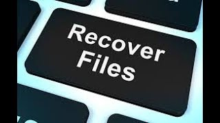 HOW TO RECOVER FILES FROM ANY DISK OR DRIVE