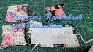 Travelers Needle Book and Pin Cushion