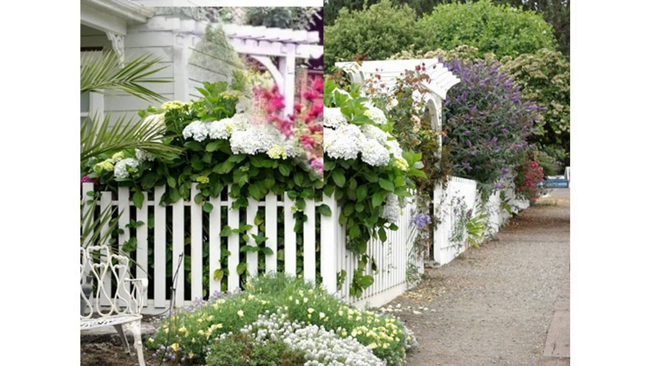 Small Picket Fence For Garden   YouTube