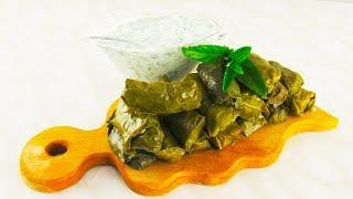 Как приготовить Долму В Виноградных Листьях! Рецепт соуса к долме!
