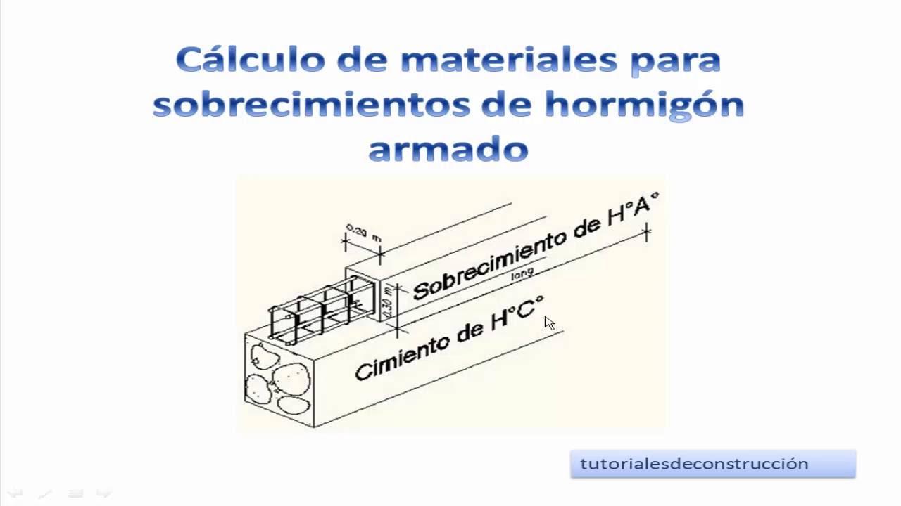 3 c lculo de materiales de construcci n para for Como hacer una pileta de hormigon armado