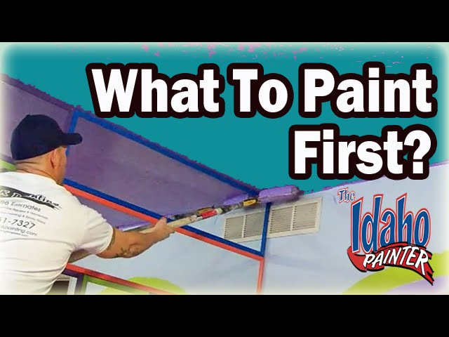 What Should You Paint First Diy Painting Ceiling Walls Or Trim