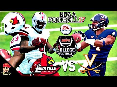 NCAA Football 17 | #5 Louisville vs Virginia | Lamar Jackson