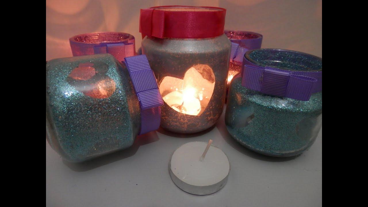 Porta velas reciclado como fazer youtube - Base de vela ...