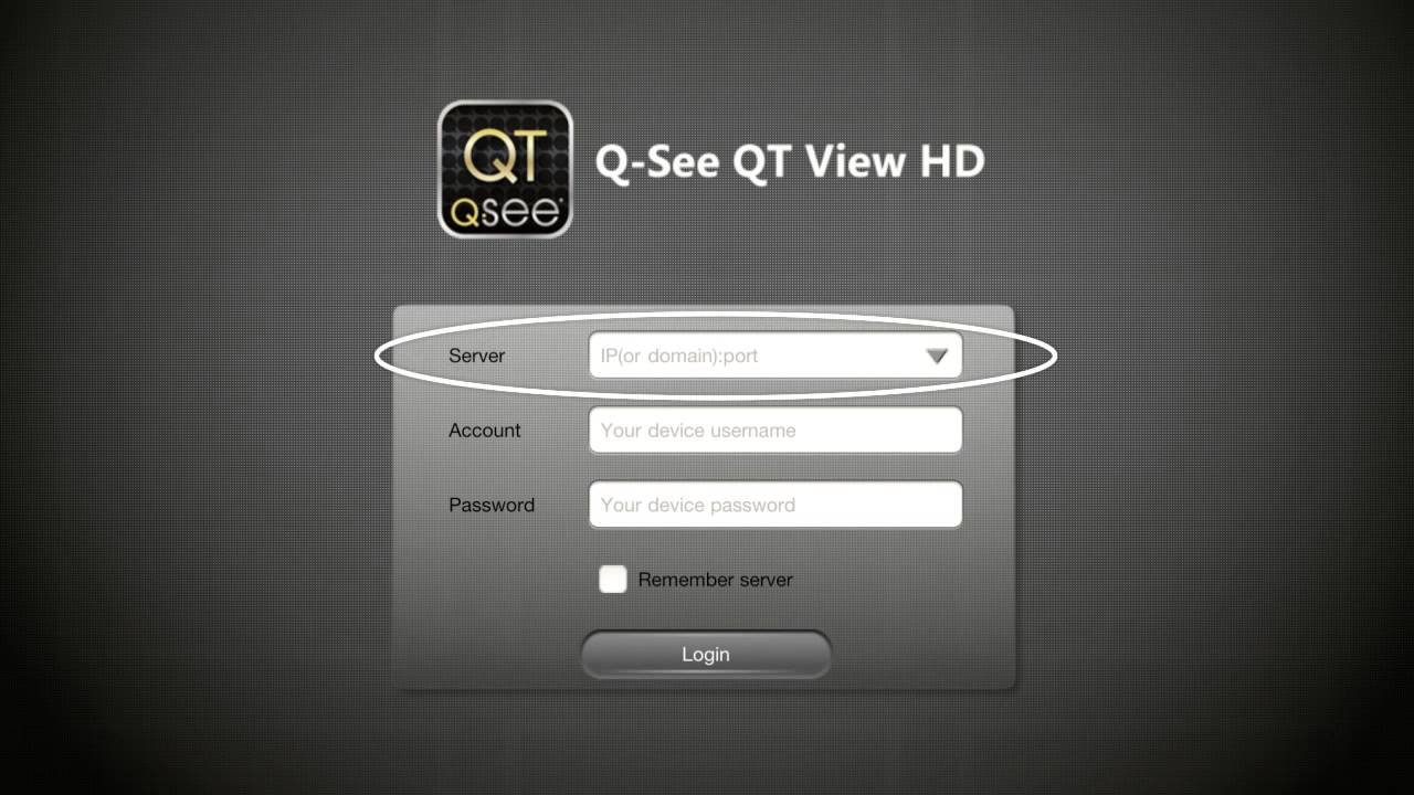 How to set up the QT View Smartphone Application