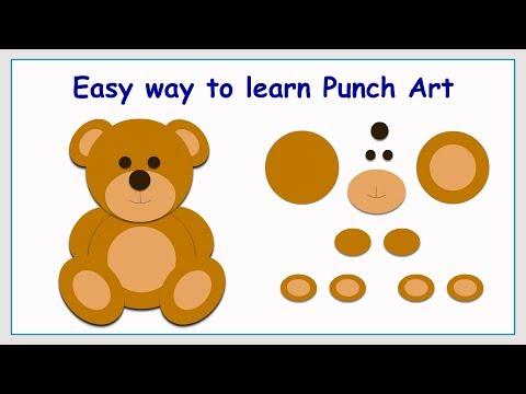 Punch Art Bear | Paper Crafting | Stamping | Card making | Scrap booking