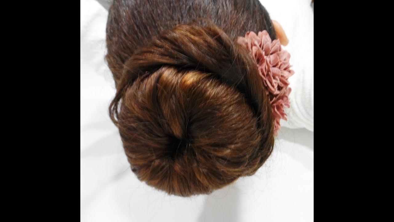Tutoriel coiffure Chignon Bun - YouTube