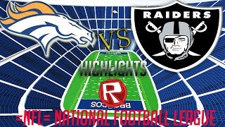 ROBLOX Football League: Highlights Broncos Vs Raiders