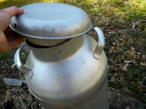 Farm Fresh Stainless Steel 10 Gallon MILK CAN -- NICE---  FOR SALE!