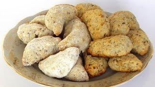 Ореховое Печенье «Полумесяцы» кулинарный видео рецепт