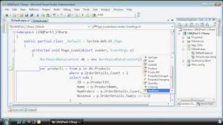 An overview of how to query a database using LINQ to SQL, courtesy ...