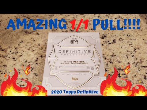 1/1 PULL OF A LIFETIME!! 2020 Topps DEFINITIVE Baseball Cards!! Insane Box! 1/1 PATCH BOOK AUTO!