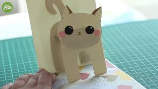 Котики объемные открытки. Творчество с детьми